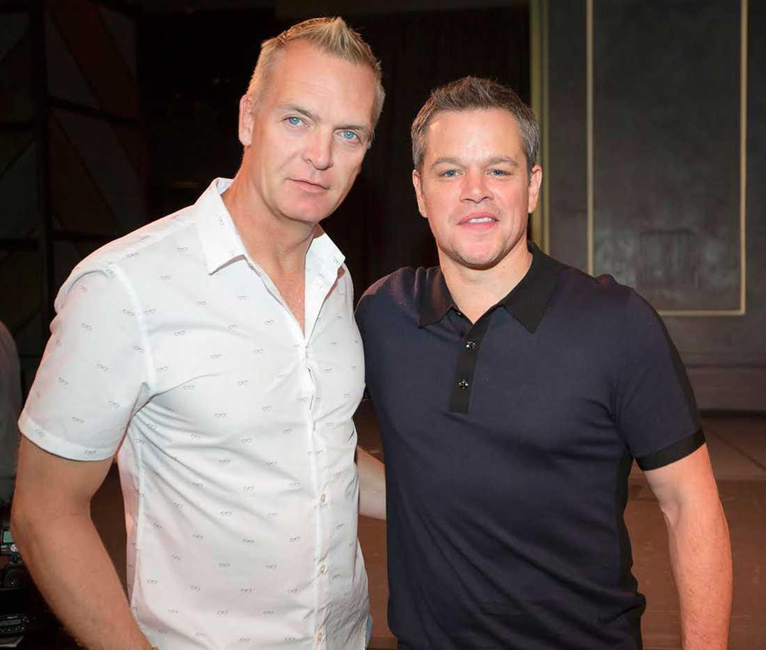 Nöjesbladets Magnus Sundholm och Hollywoods Matt Damon. Ser du vem som är vem?