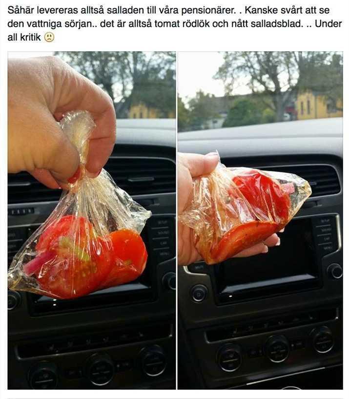 Salladsleveransen fick Natalie Jaarnek Fast, 33, att se rött och hon skrev ett inlägg om det på Facebook.