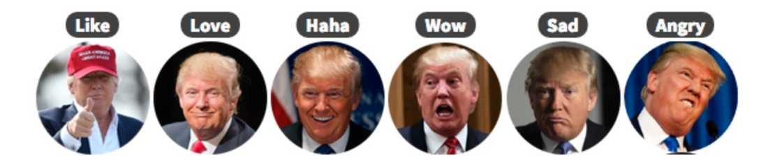 Här är alla reaktioner du kan använda.