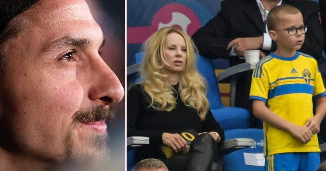 Helena Seger här med ena sonen, Vincent, några som Zlatan fick spendera mer tid med under skadeperioden.