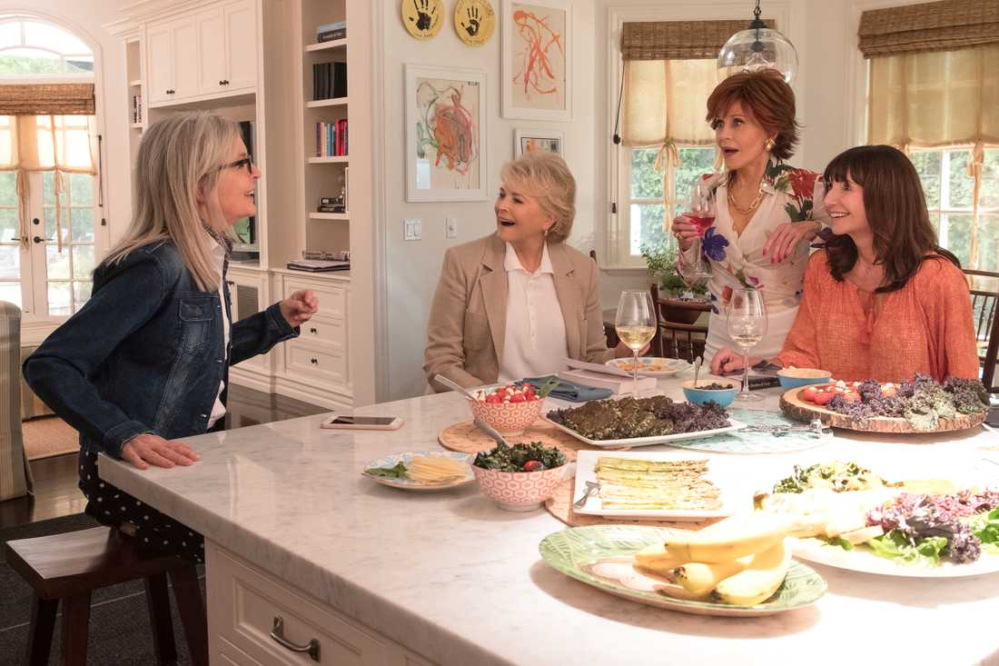 "Diane Keaton, Candice Bergen, Jane Fonda och Mary Steenburgen i ""Book club""."