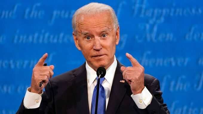 Joe Biden under nattens debatt.