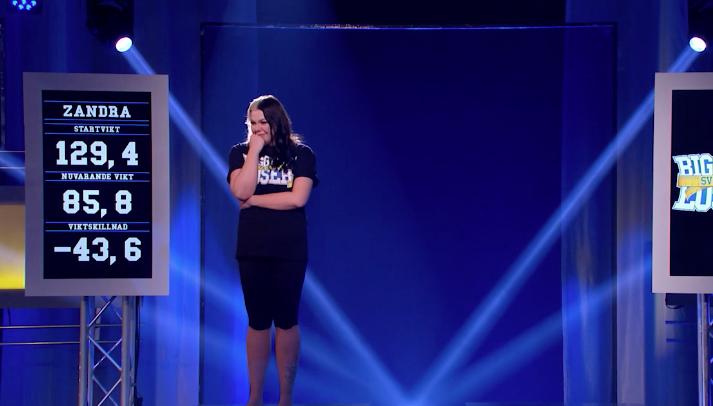 Under vägningen i kvällens program chockade hon alla och vann Hemmapriset på 100 000 kronor.
