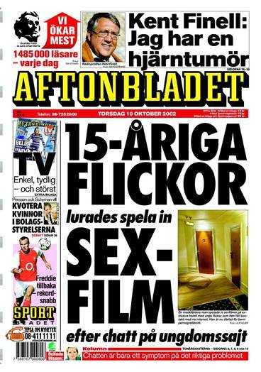 Aftonbladet den 10 oktober.