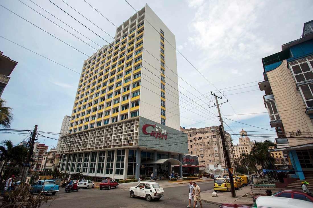 Den senaste attacken skedde på ett hotellrum på det populära hotellet Capri i Havanna.