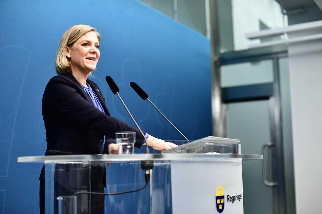 Finansminister Magdalena Andersson (S)
