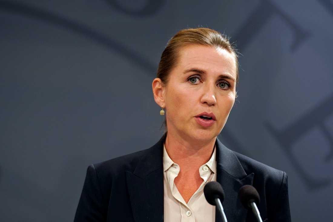 Statsminister Mette Frederiksen (S) vill göra det svårare för kriminella att ta sig över gränsen till Danmark från Sverige.