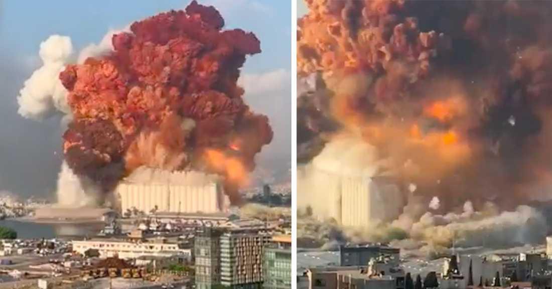 """""""Det påminner om Hiroshima och Nagasaki"""", säger Beiruts guvernör."""