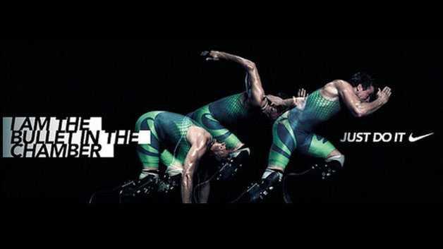Den opassande annonsen som Nike tagit bort.
