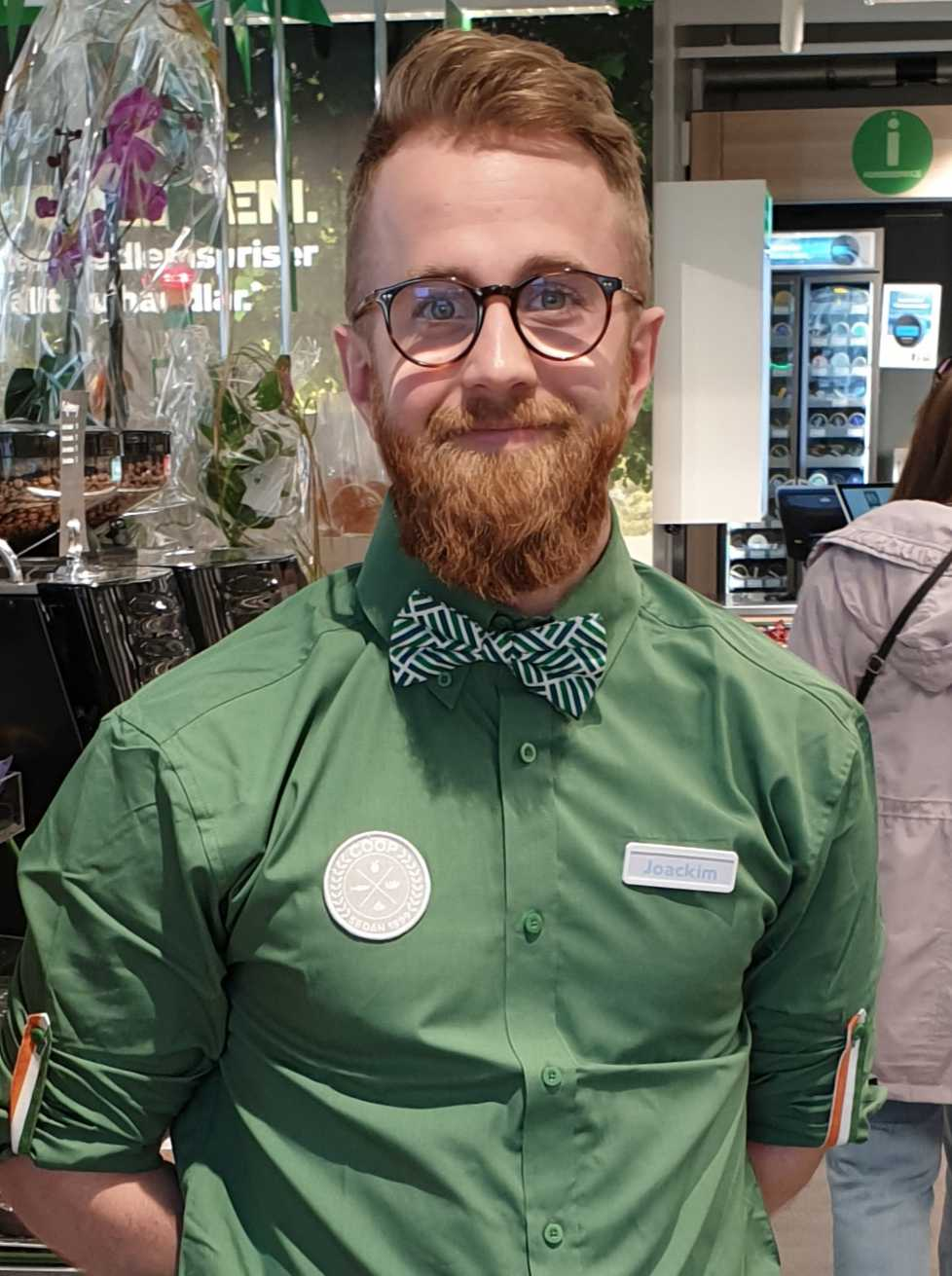 Joakim Andersson, butikschef.