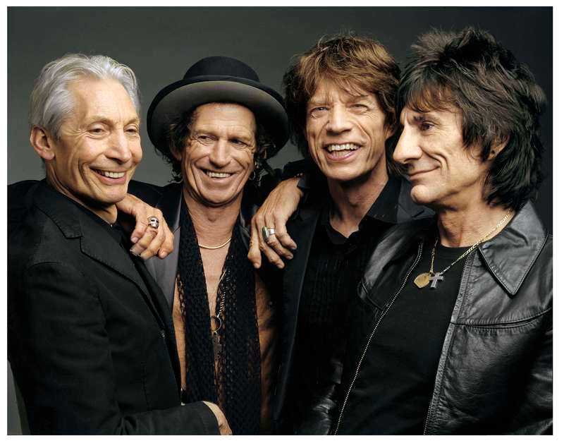 Rolling Stones: Charlie Watts, Keith Richards, Mick Jagger och Ronnie Wood.