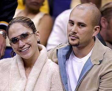 Jennifer Lopez tillsammans med ex-maken Cris Judd.