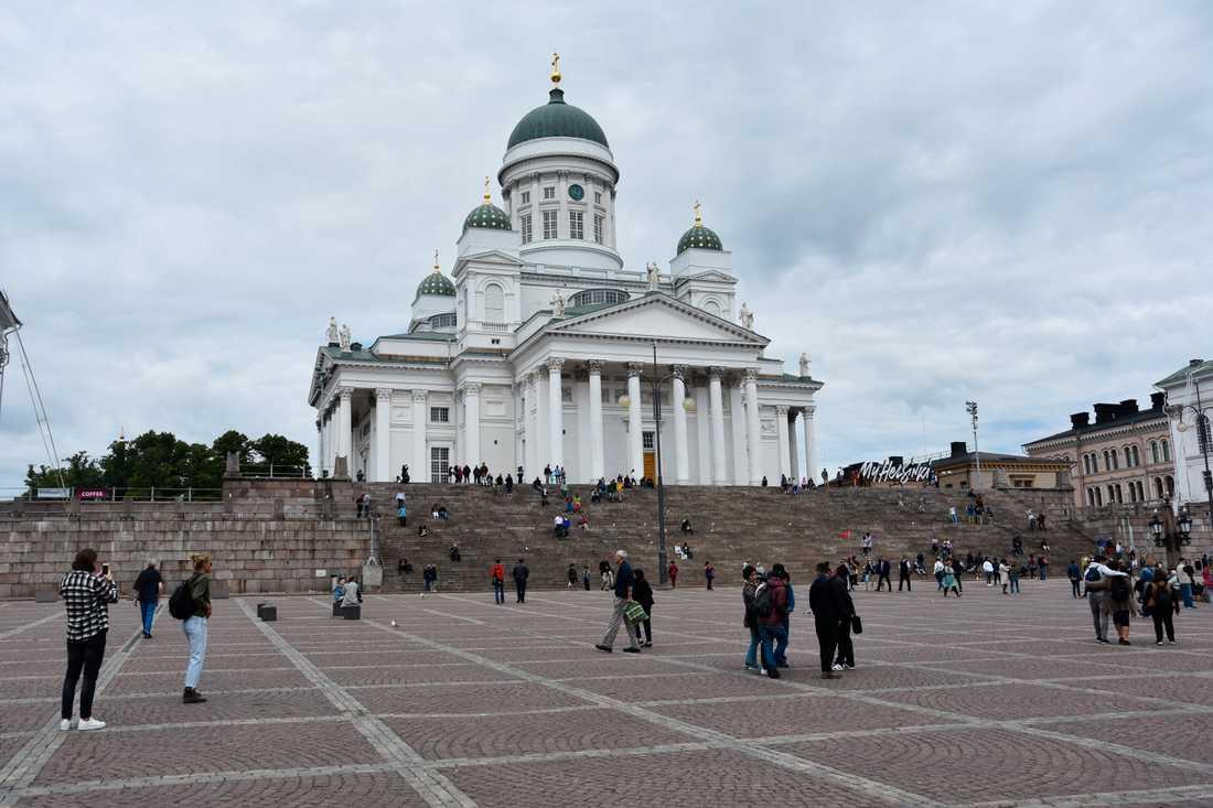 Domkyrkan i Helsingfors inväntar nästa veckas start på Finlands halvår som ordförandeland i EU.