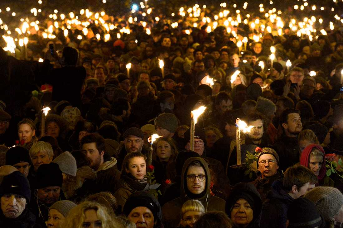 30 000 personer deltog i manifestationen i Köpenhamn.