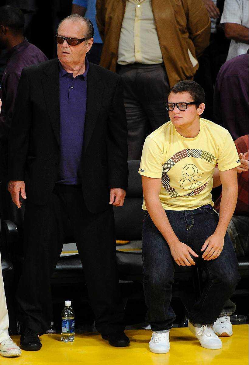 Jack Nicholson med sin son Raymond.