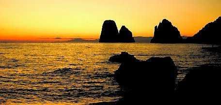 Italienska Capri, perfekt för ett frieri.