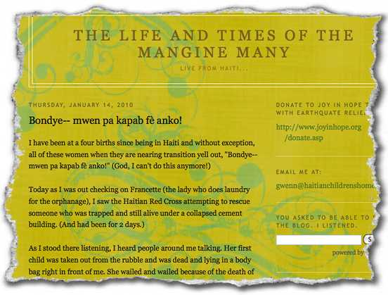 Gwenn Goodale Mangines blogg.