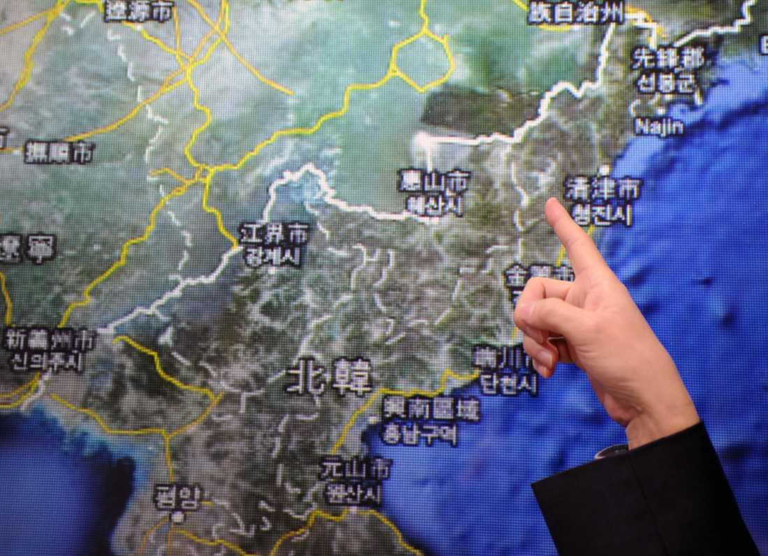 Området där kärnvapenprovet ägde rum.