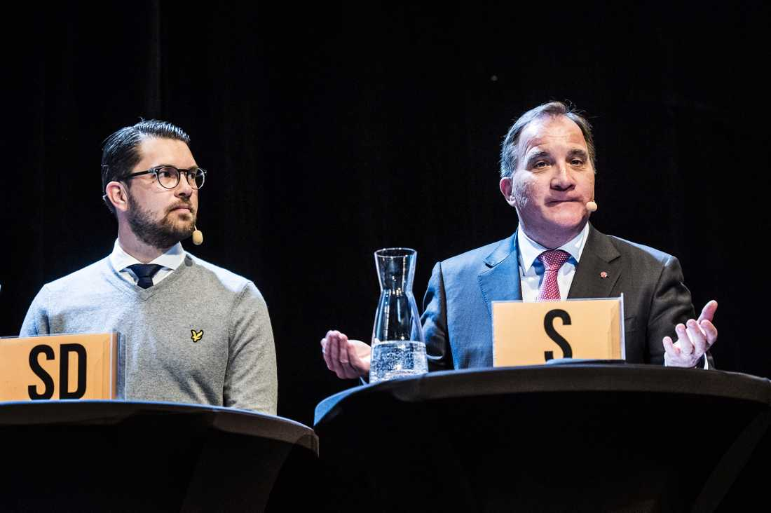 Jimmie Åkesson (SD) och Stefan Löfven (S).