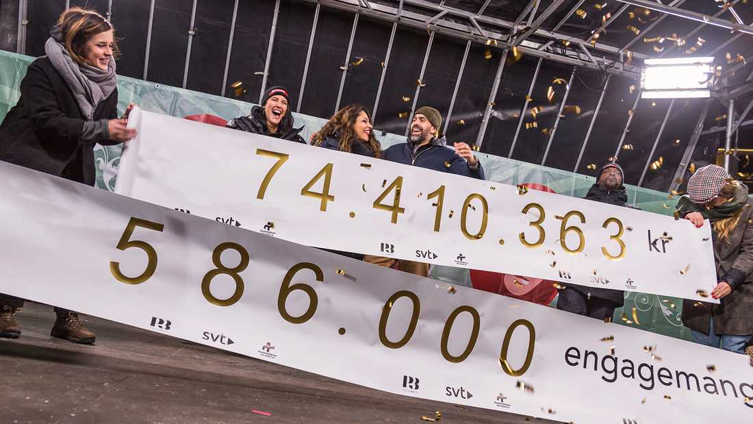 Över 74 miljoner kronor lyder nya rekordnoteringen.