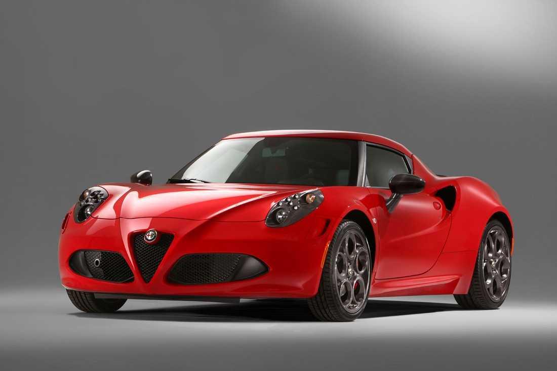 Alfa Romeo 4C, bilen som ingår i företagets Instagram-kampanj.