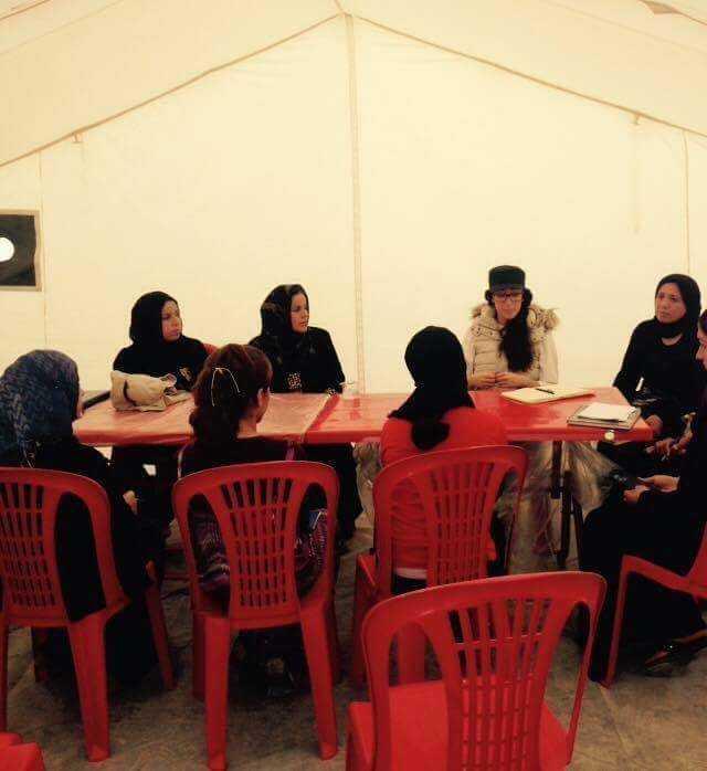 Delal i möte med kvinnor som flytt IS fångenskap om deras rättigheter i flyktinglägren.