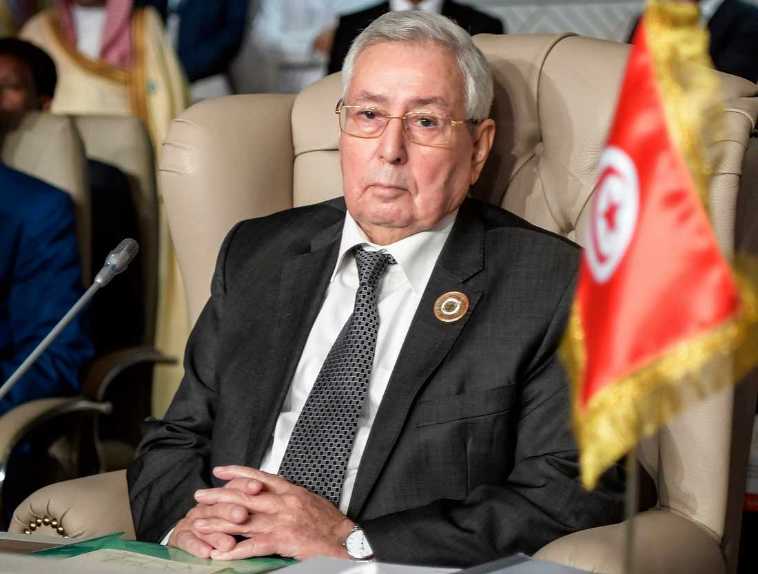 Abdelkader Bensalah, talman för parlamentets övre kammare, har utsetts till interrimpresident i Algeriet. Arkivbild.