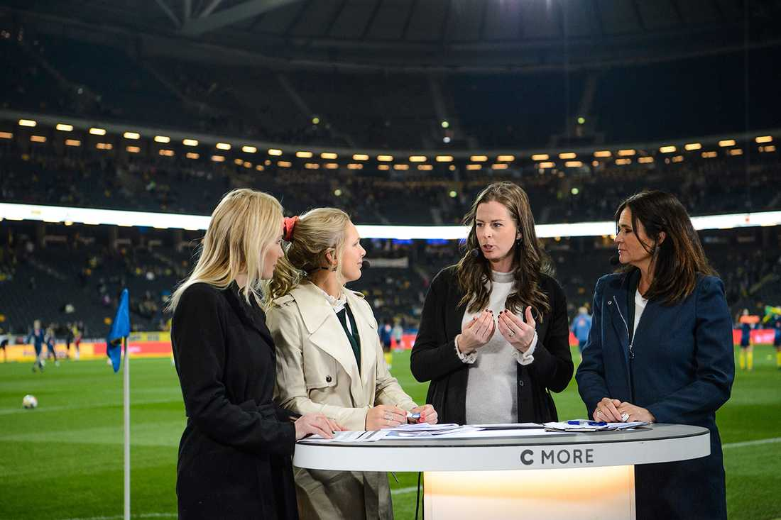 Lotta Schelin på dagens match mellan Sverige och Tyskland.