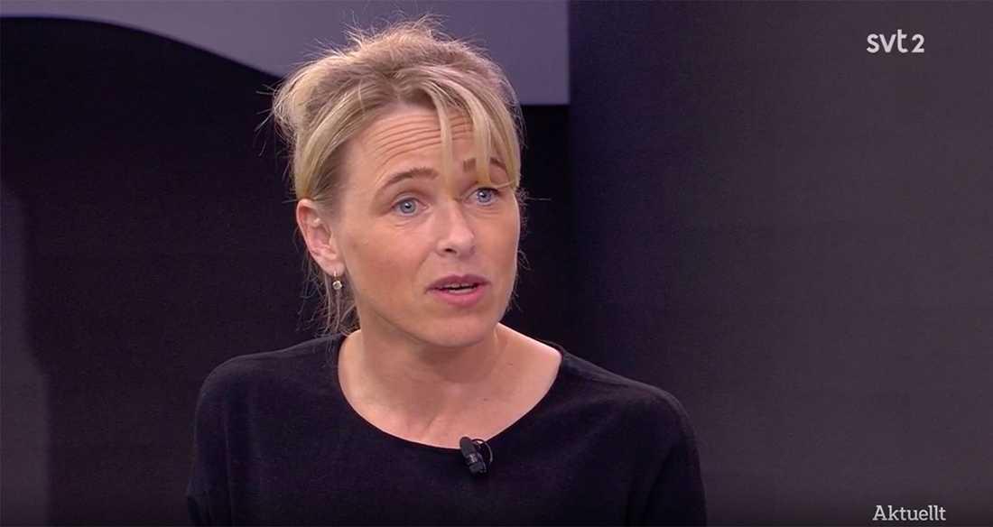 Intensivvårdsläkaren Karin Hildebrand i Aktuellt.