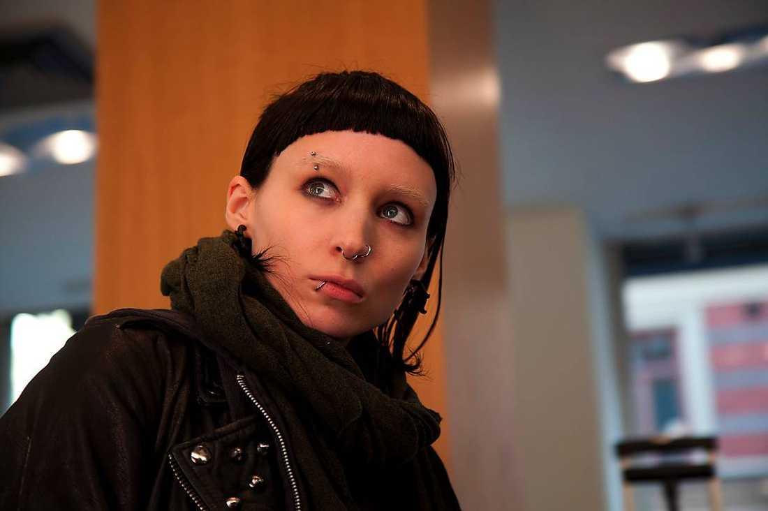 "Rooney Mara spelade Lisbeth Salander i ""The girl with the dragon tattoo""."