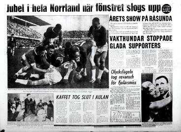 Aftonbladet efter Gif Sundsvalls kvalseger 1964.