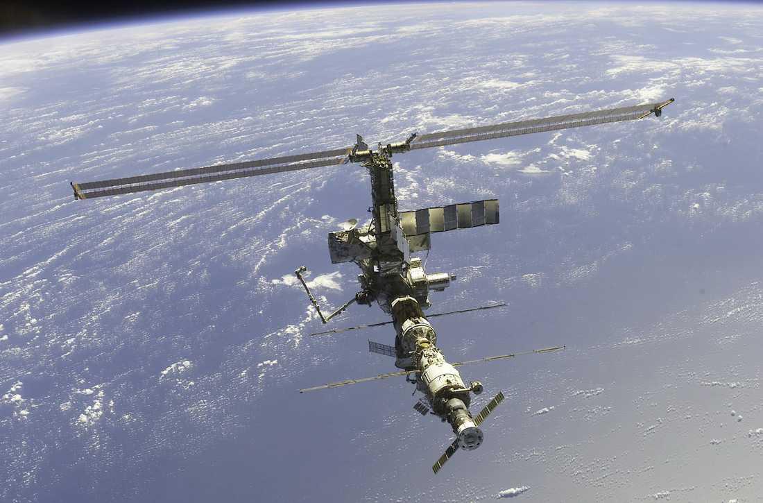 Den internationella rymdstationen, ISS.