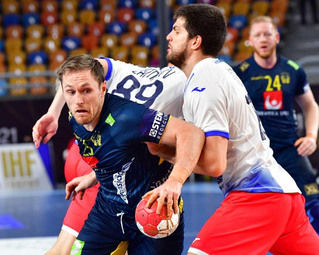 Albin Lagergren kom in i truppen till matchen mot ryssarna.