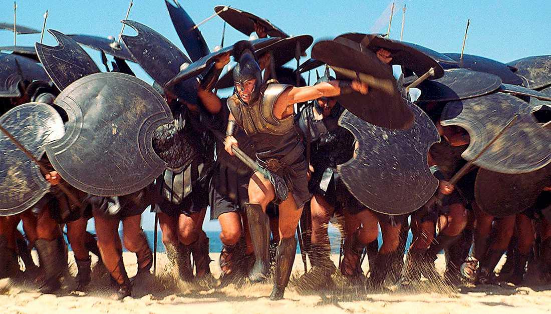 """Brad Pitt som Akilles i filmen """"Troja"""" från 2004."""
