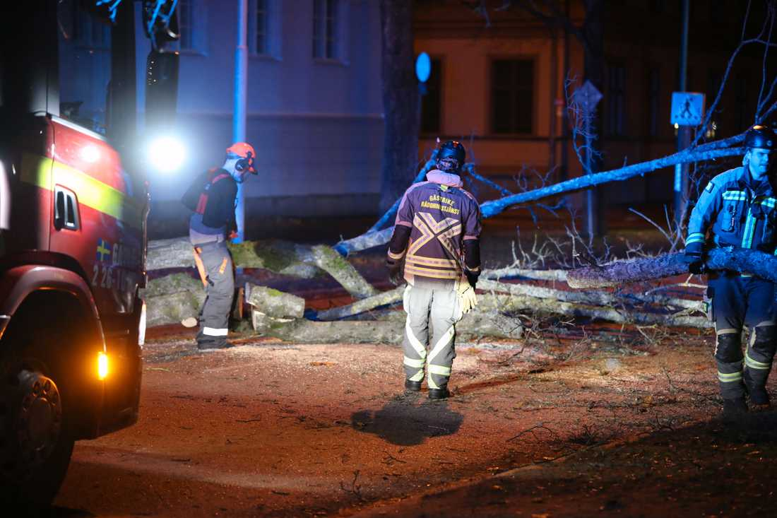 Räddningstjänsten rycker ut i Gävle.