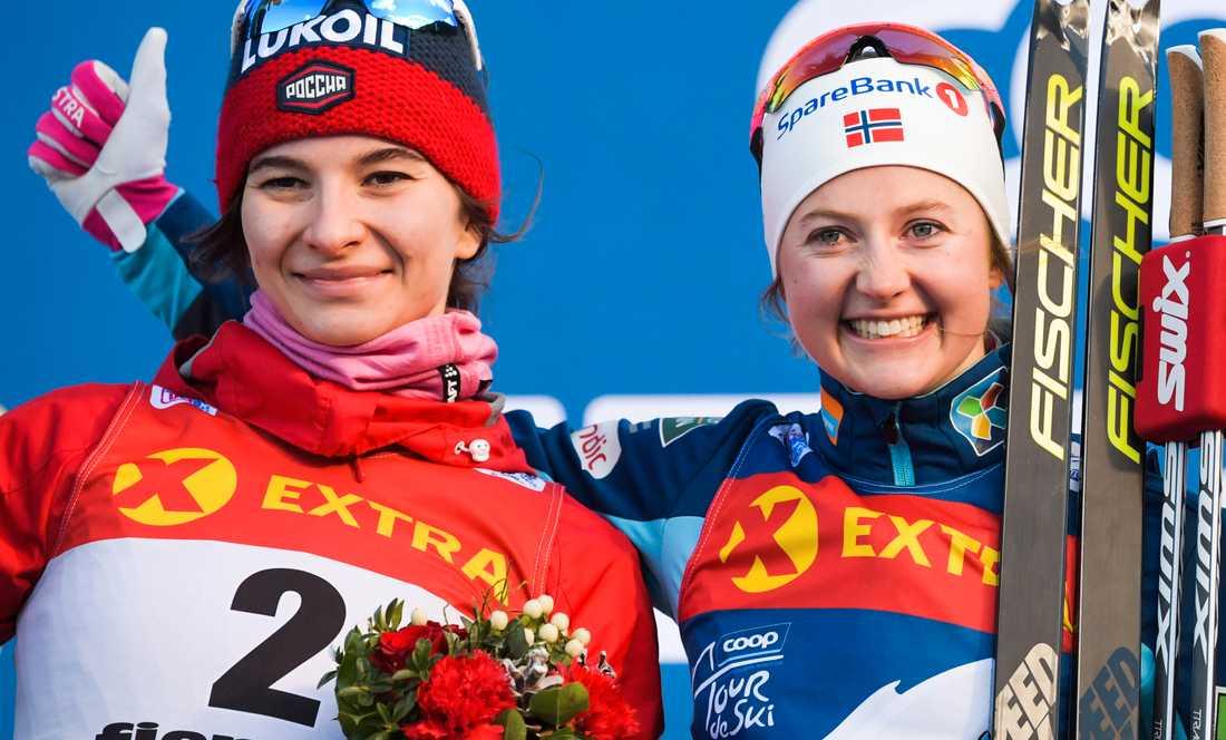 Natalia Nepryaeva från Ryssland och Flugsta Östberg från Norge