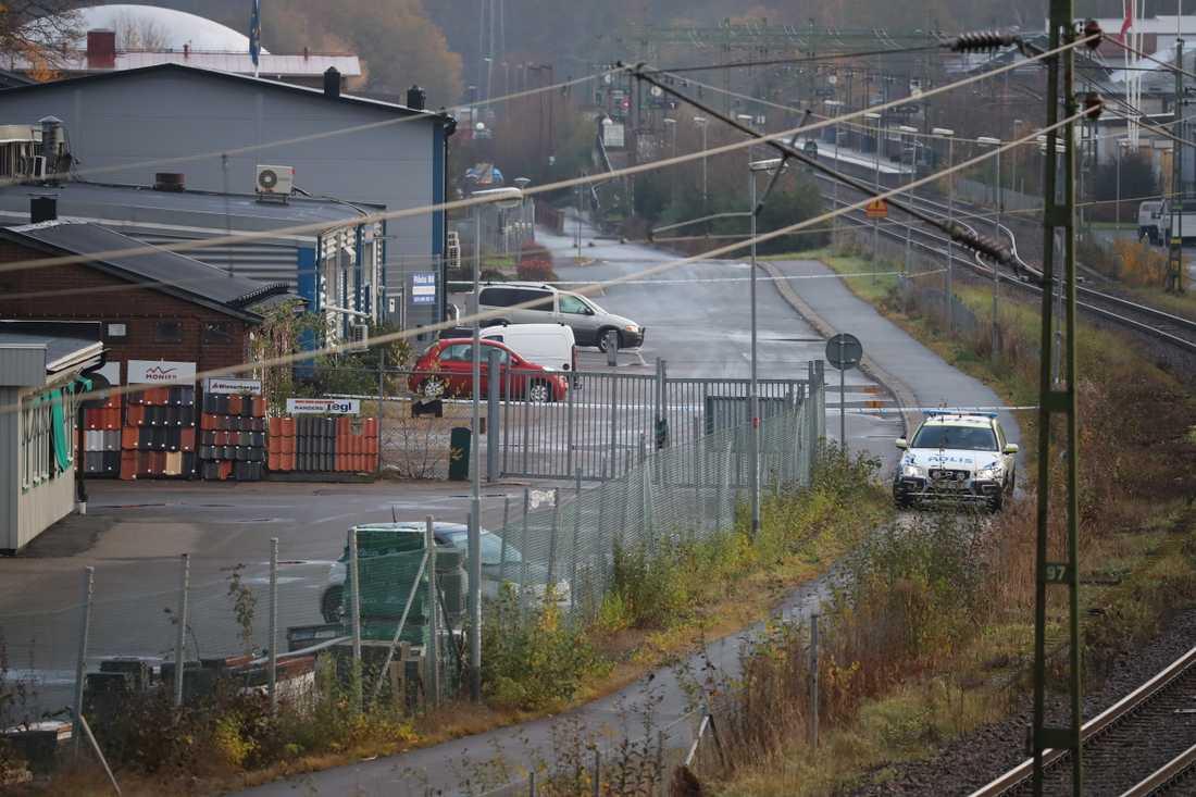 Skottlossningen inträffade vid en lokal i Mölnlycke utanför Göteborg i november.