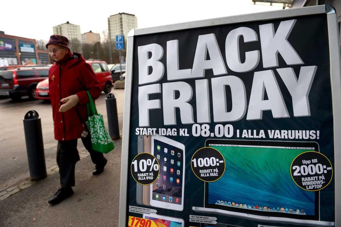 Arkivbild från Black Friday i Sverige.