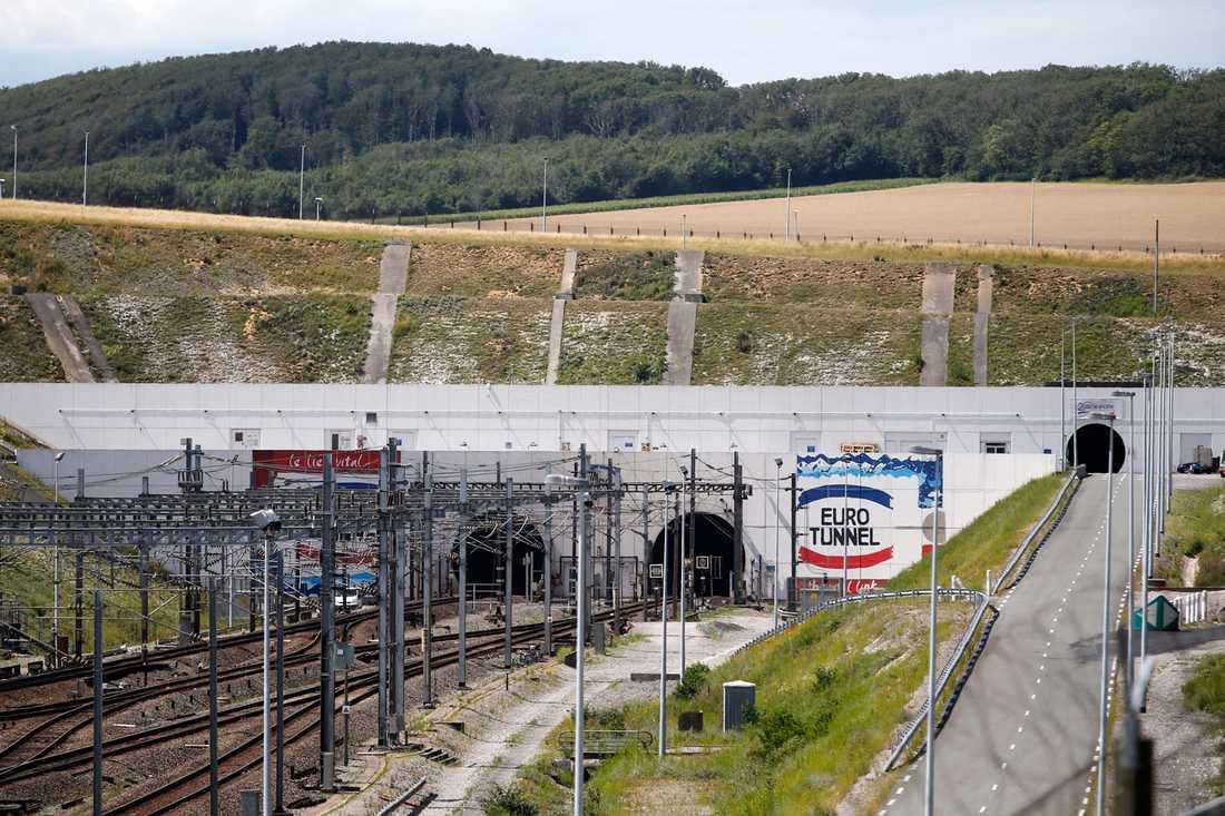 Eurotunneln mellan Calais i Frankrike och Storbritannien.
