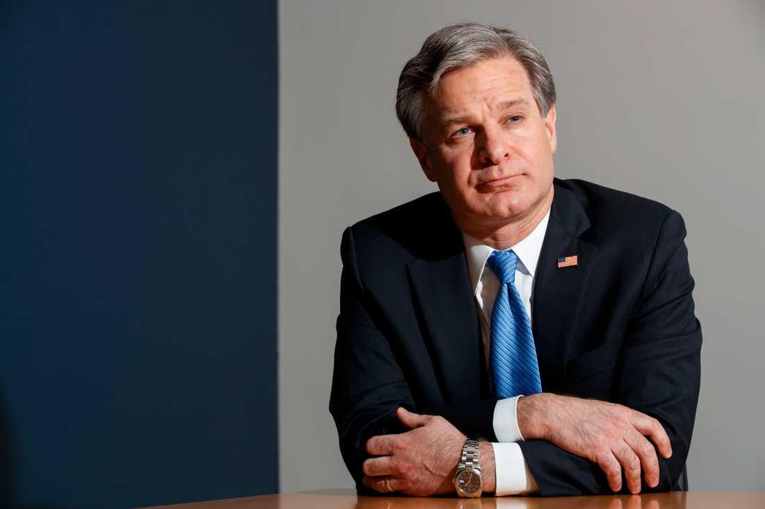 FBI-chefen Christopher Wray. Arkivbild.