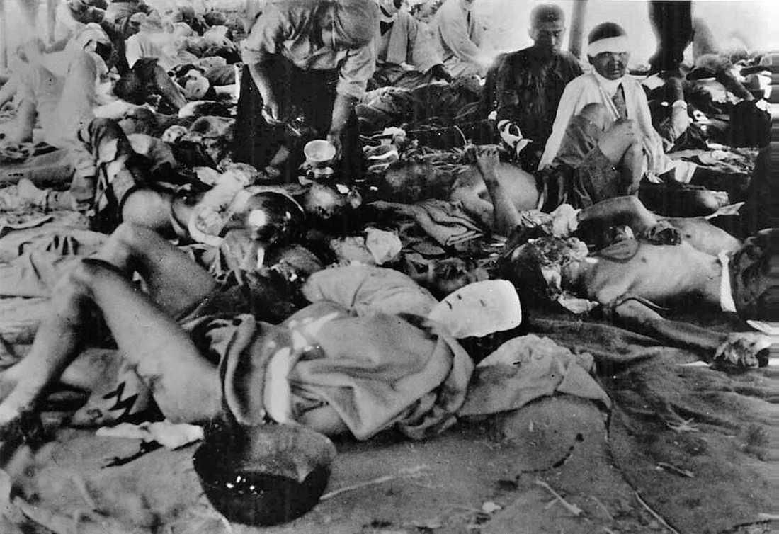 Offren Foto taget den 7 augusti på ett hjälpcentra vid Otafloden som upprättades för att vårda de skadade.