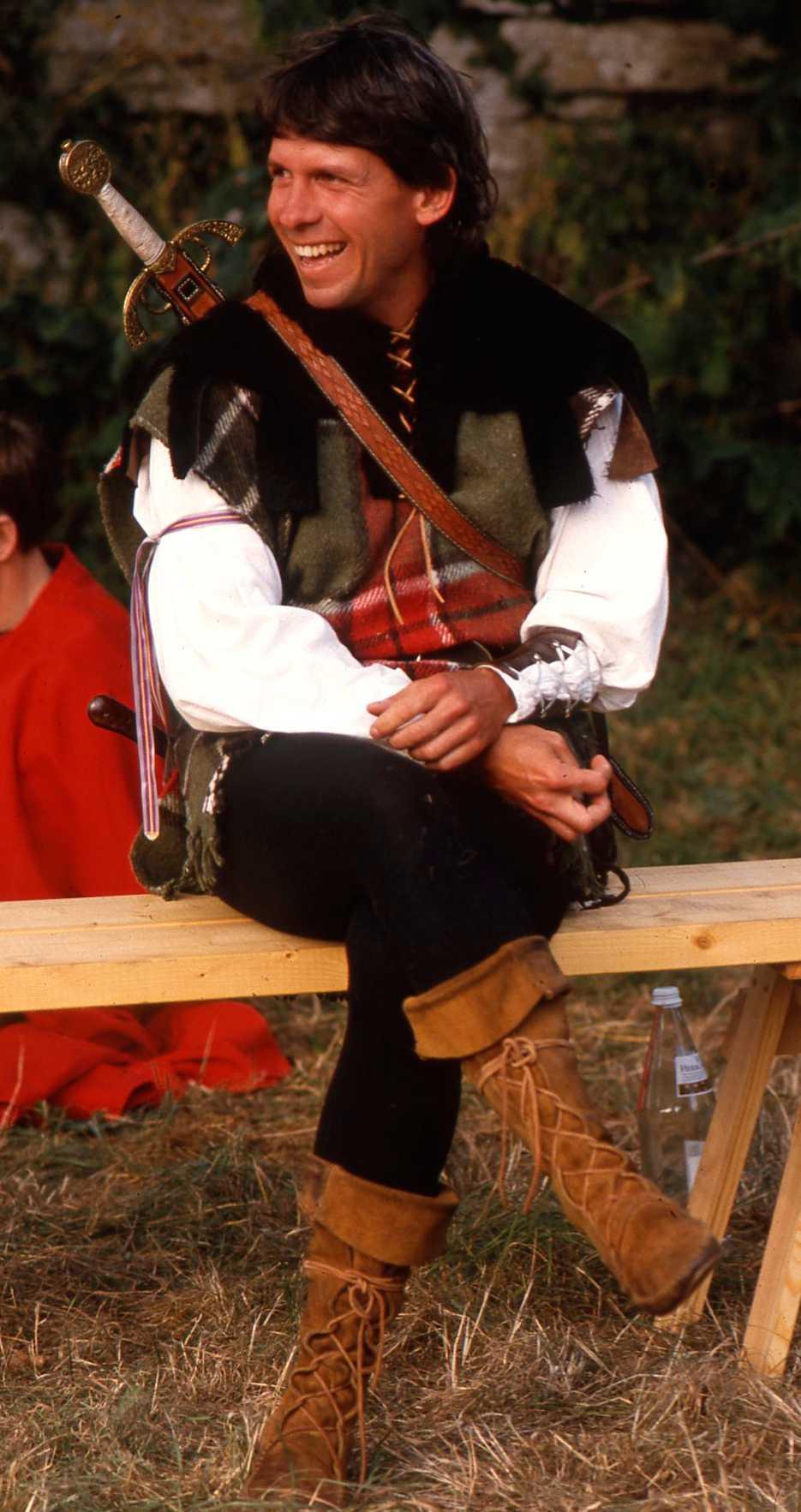 Michael Boatwright under medeltidsveckan i Visby någon gång på 80-talet.