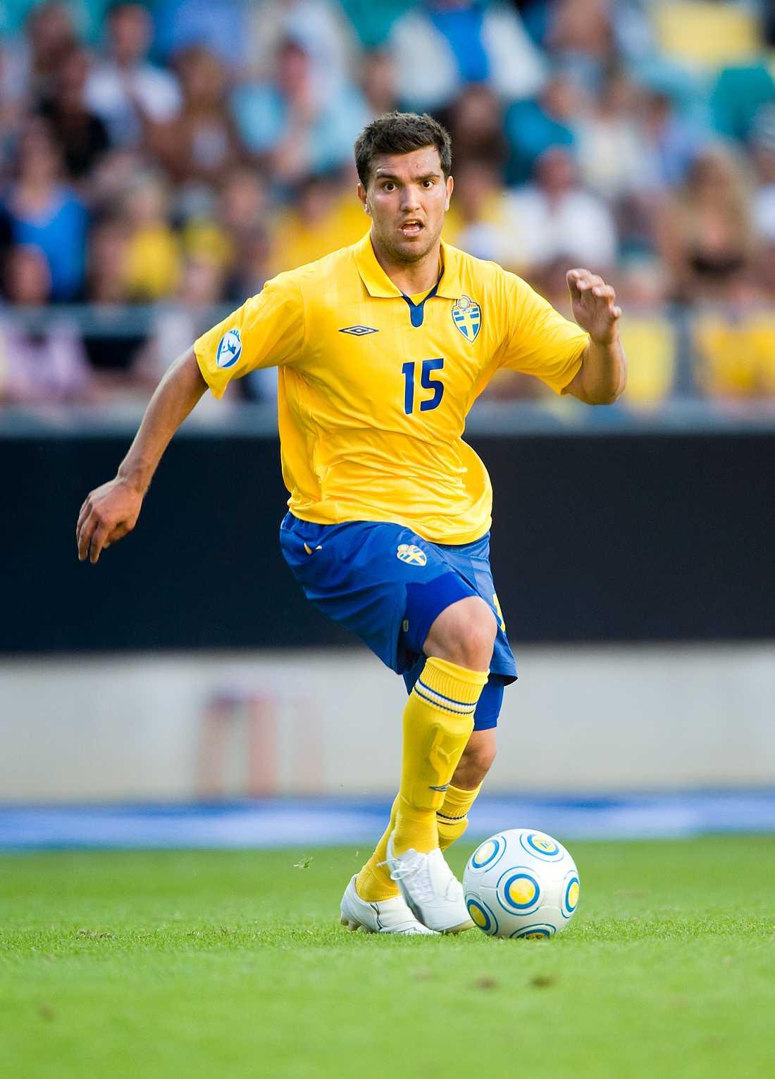 Labinot Harbuzi i U21-landslaget.