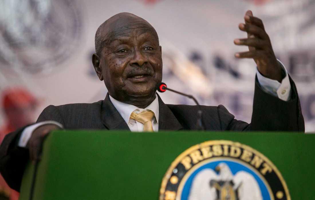 Ugandas president Yoweri Museveni är en de afrikanska ledare som suttit allra längst – hela 30 år. Men kritiken mot honom växer och han anklagas för att bli allt mer auktoritär. Arkivbild.