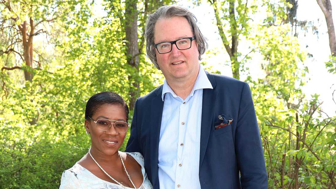 Gladys del Pilar med maken Christer Berg.