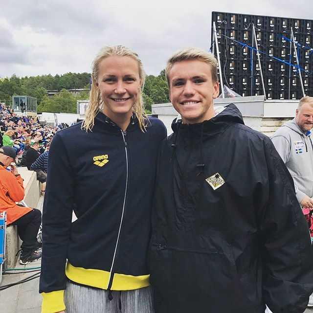 Nicholas Dworet tillsammans med Sarah Sjöström