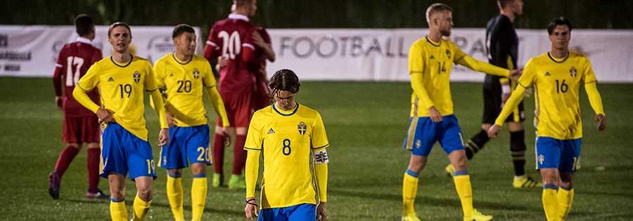 Sverige blev utspelat av Serbien under fredagskvällen.