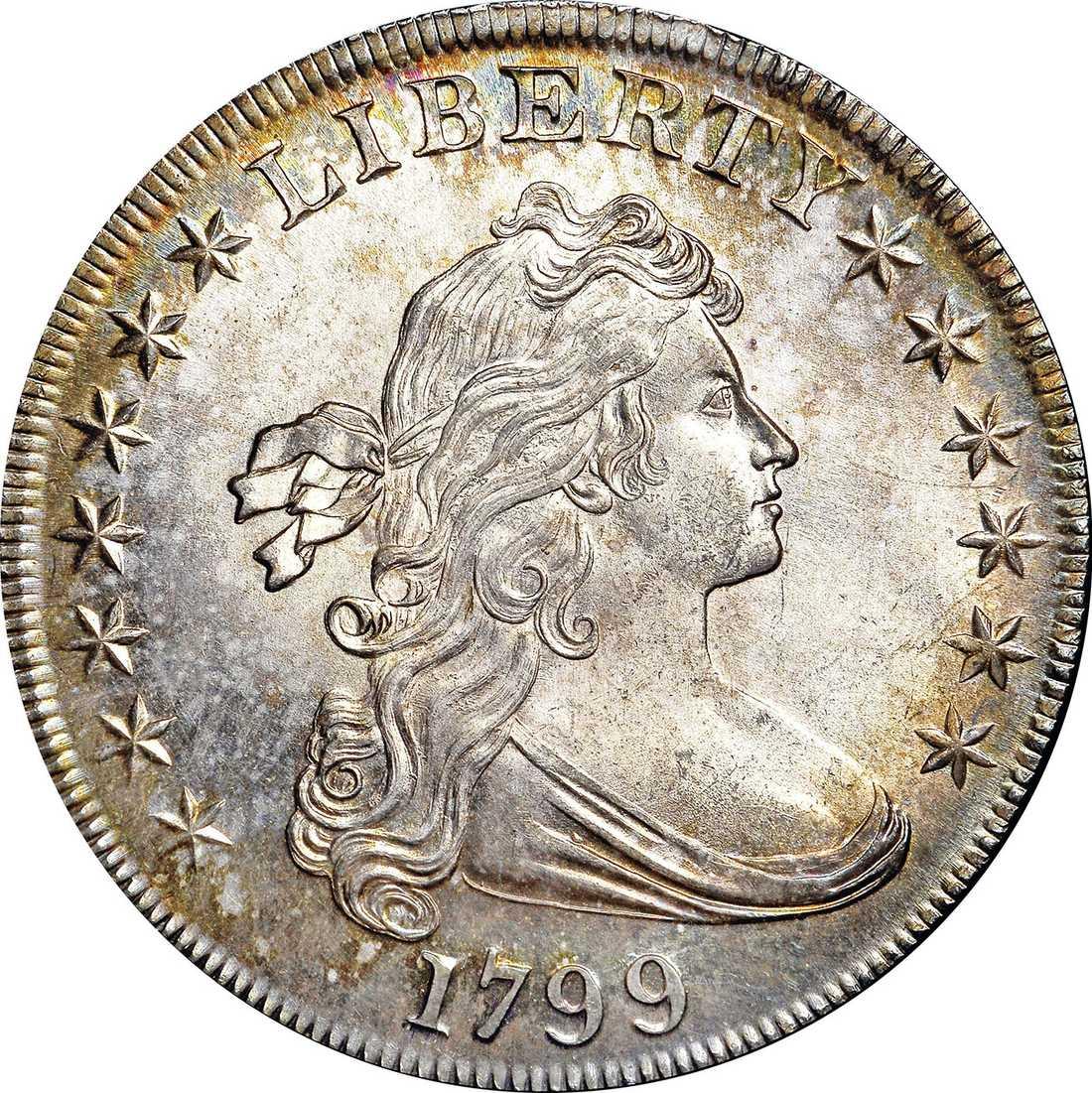 Ett dollarmynt från 1799 såldes för omkring 822 000 dollar.
