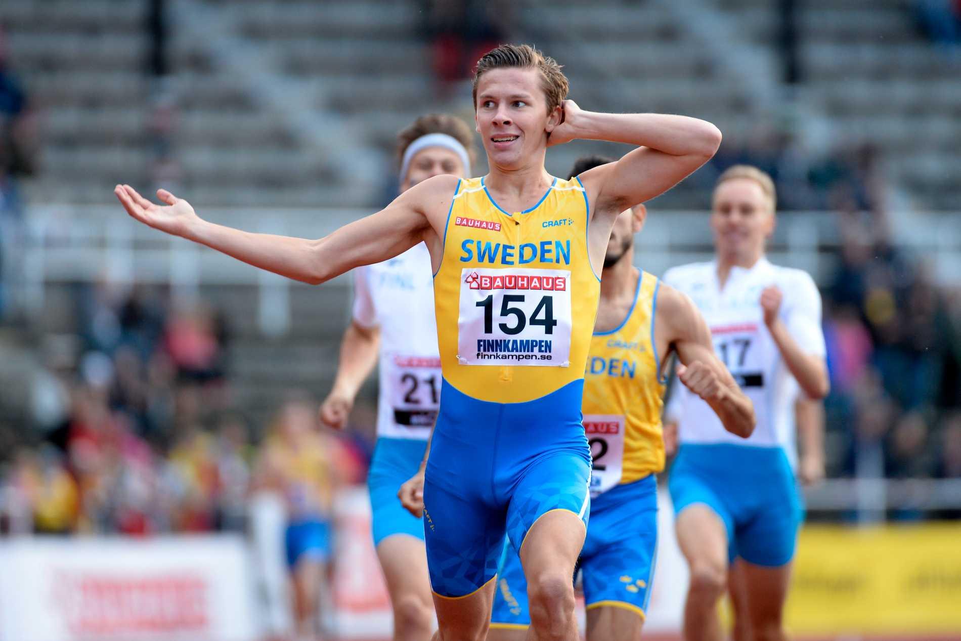 Andreas Almgren på Finnkampen 2015. Arkivbild.