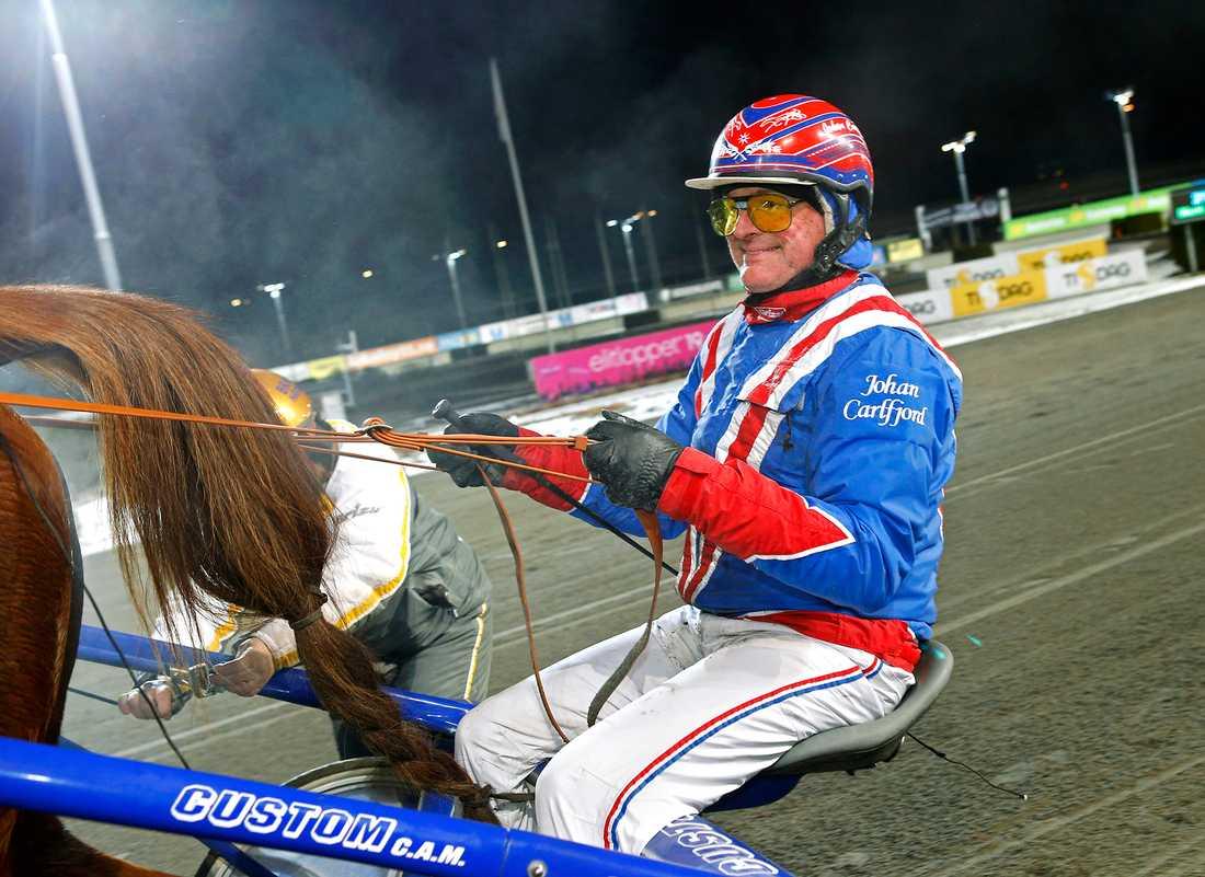 Johan Carlfjord i sulkyn 2019.